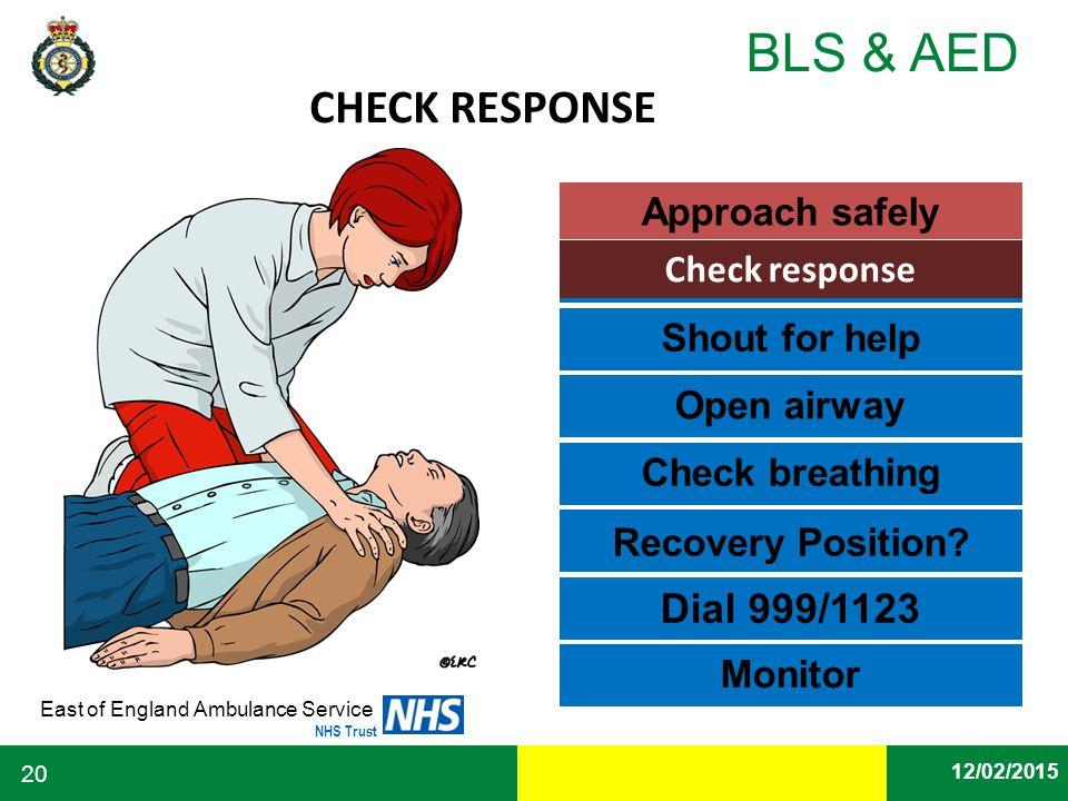 CHECK RESPONSE Dial 999/1123 Approach safely Check response