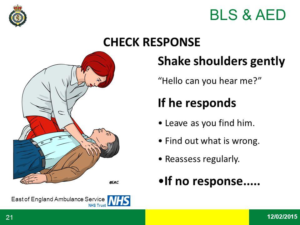Shake shoulders gently If he responds