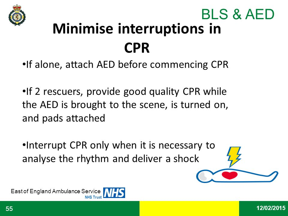 Minimise interruptions in CPR