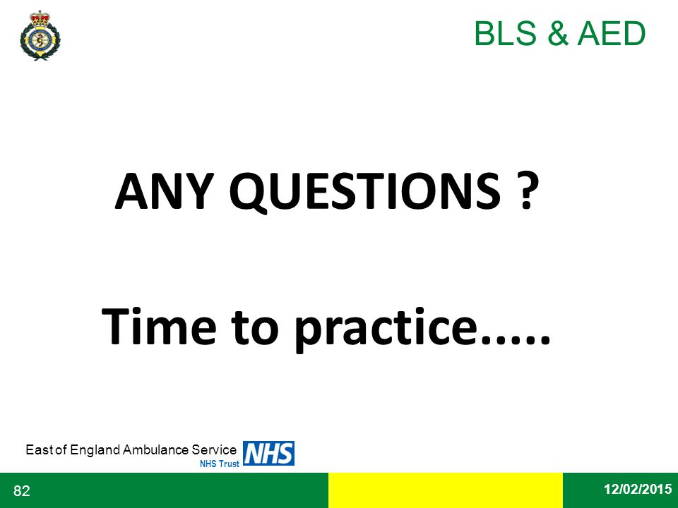 ANY QUESTIONS Time to practice.....