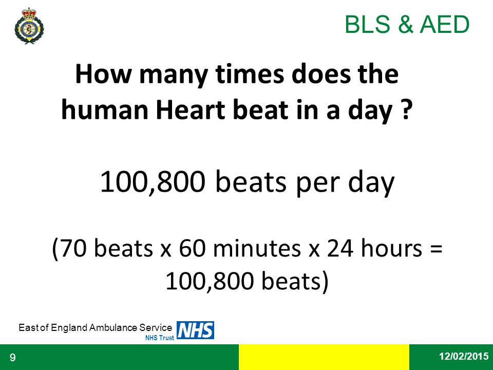 How many times does the human Heart beat in a day