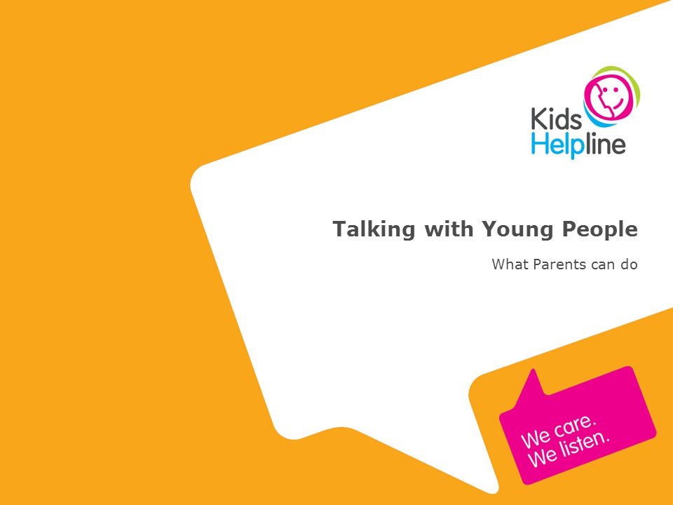 Talking with Young People