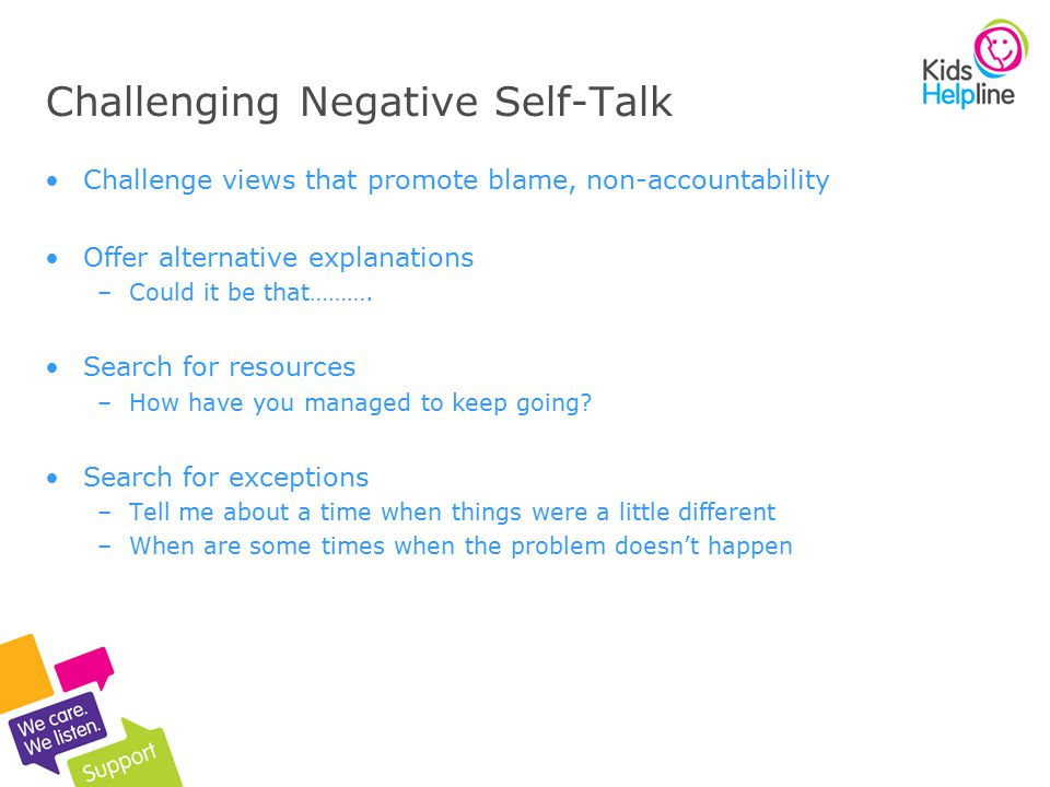 Challenging Negative Self-Talk