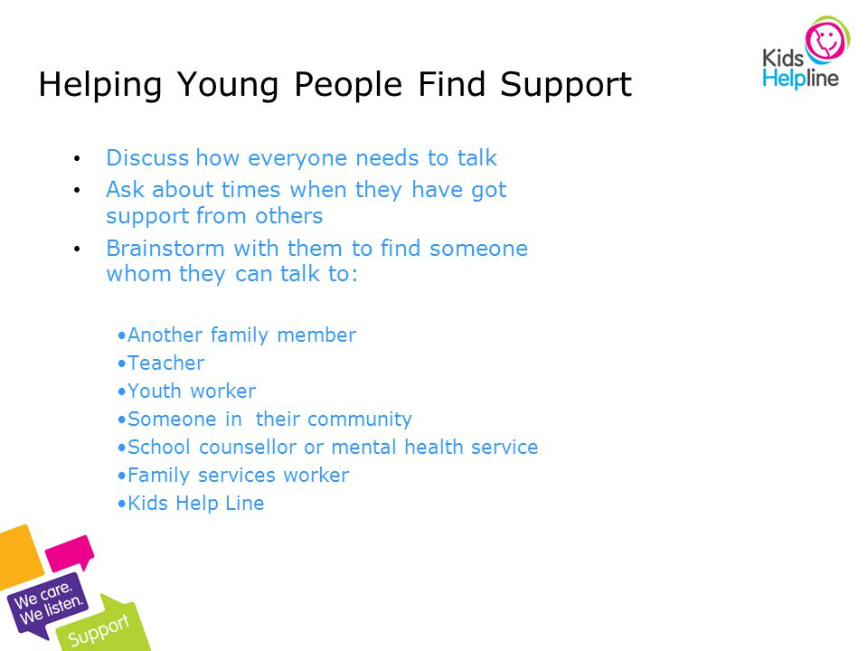 Helping Young People Find Support