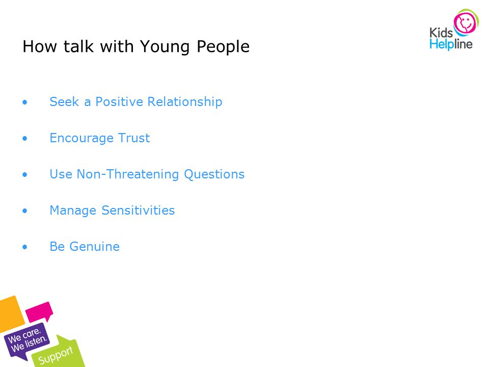 How talk with Young People