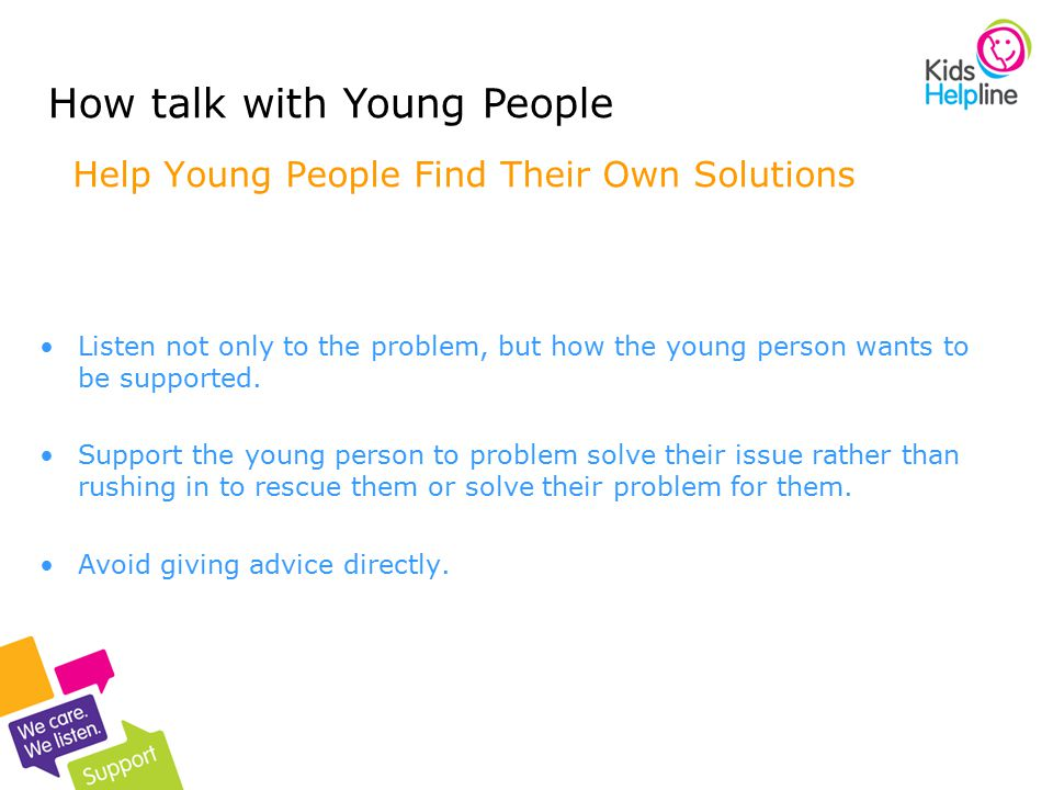 Help Young People Find Their Own Solutions