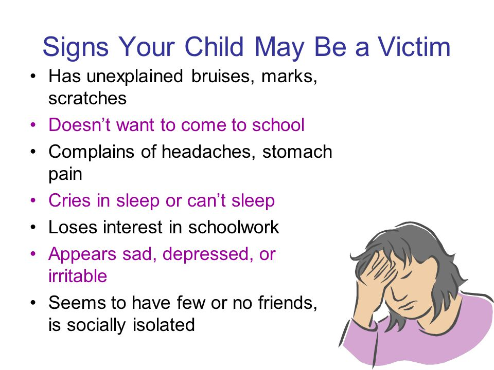 Signs Your Child May Be a Victim
