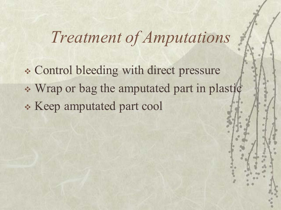 Treatment of Amputations
