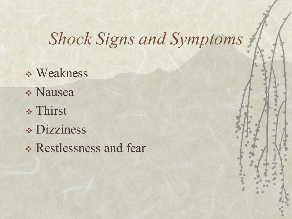 Shock Signs and Symptoms