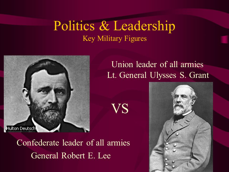 Politics & Leadership Key Military Figures