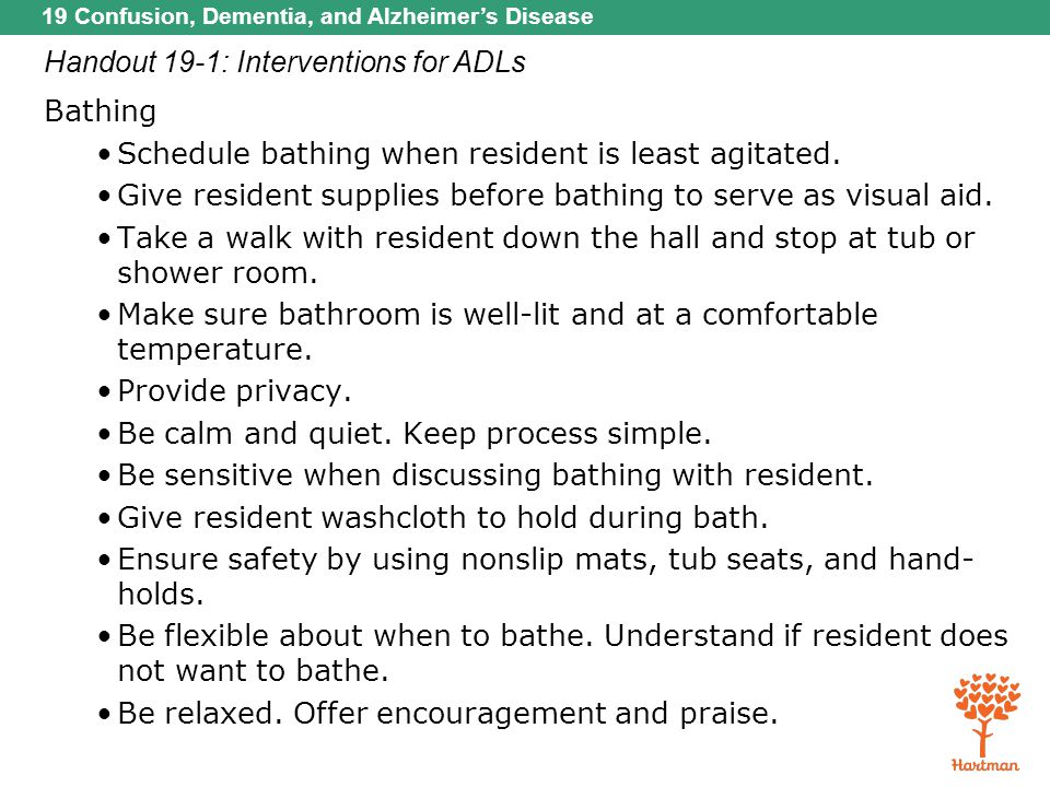 Handout 19-1: Interventions for ADLs