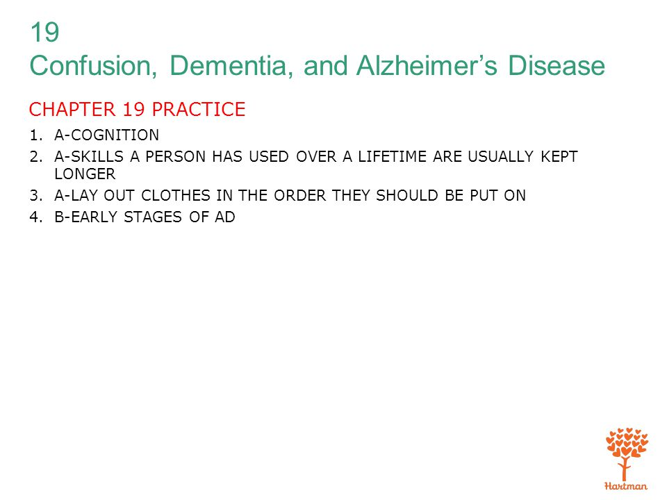 CHAPTER 19 PRACTICE A-COGNITION