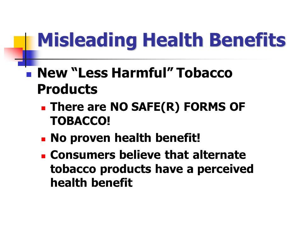 Misleading Health Benefits