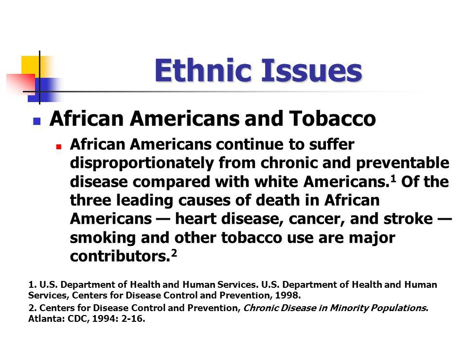 Ethnic Issues African Americans and Tobacco