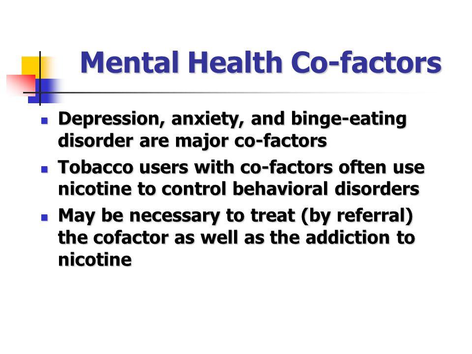 Mental Health Co-factors
