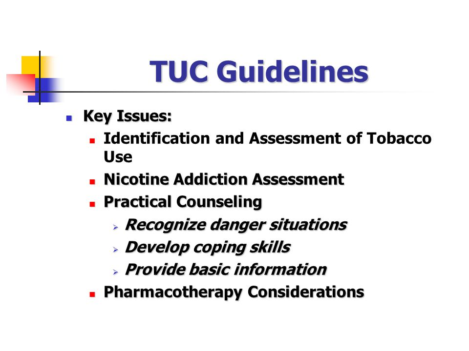 TUC Guidelines Key Issues: