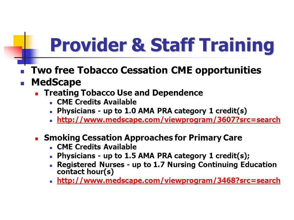 Provider & Staff Training