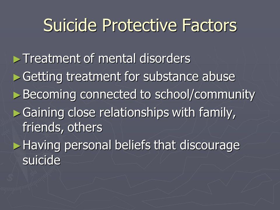 Suicide Protective Factors