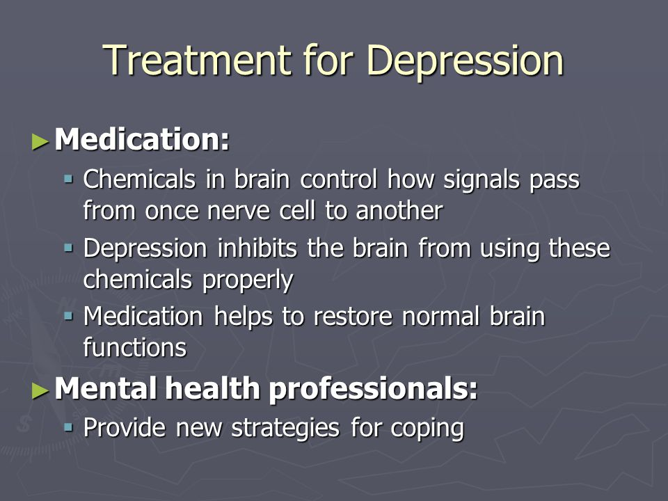 Treatment for Depression