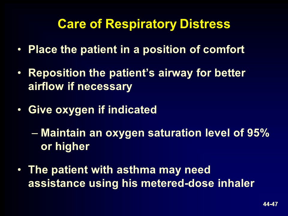 Care of Respiratory Distress