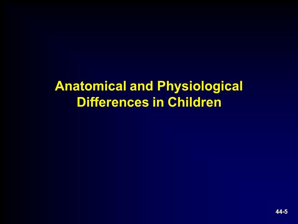 Anatomical and Physiological Differences in Children