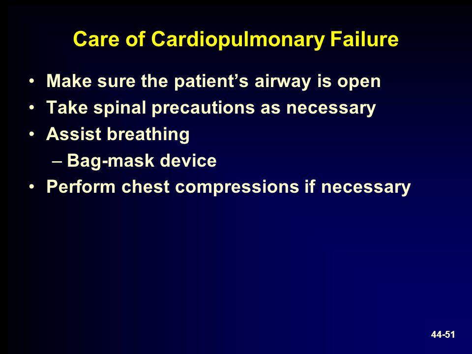 Care of Cardiopulmonary Failure