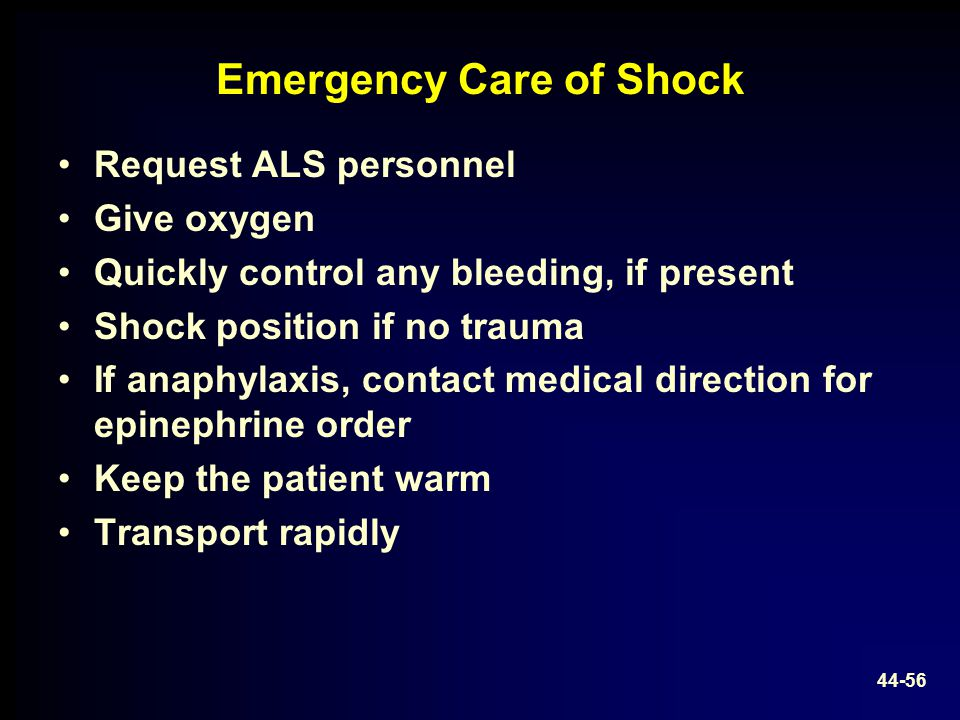 Emergency Care of Shock