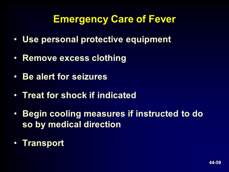 Emergency Care of Fever