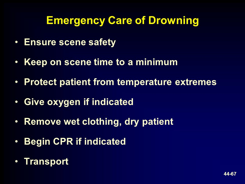 Emergency Care of Drowning