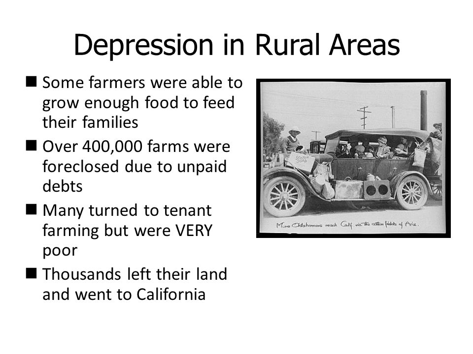 Depression in Rural Areas
