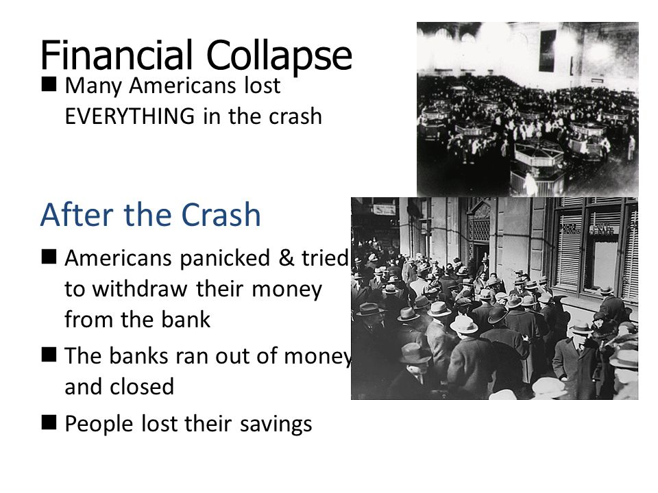 Financial Collapse After the Crash
