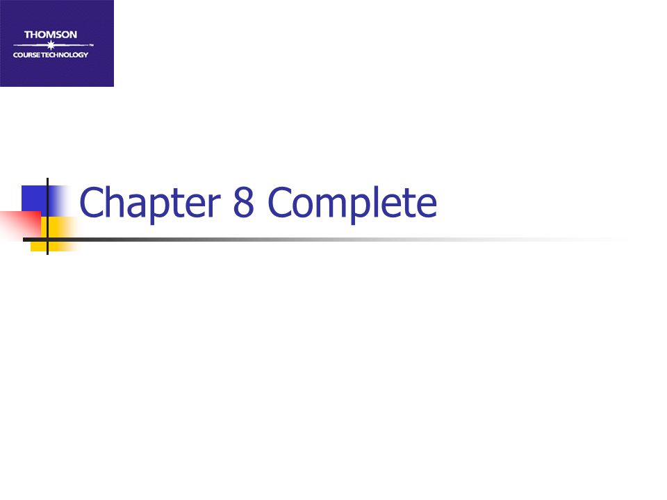 Chapter 8 Complete