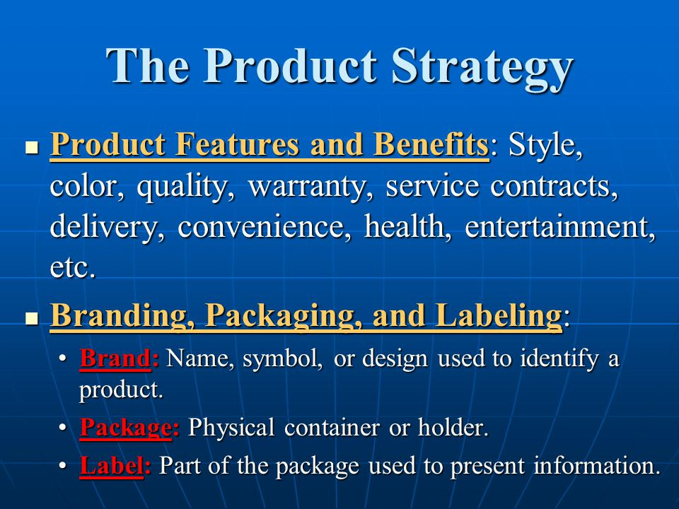 The Product Strategy