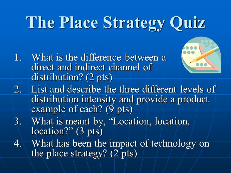 The Place Strategy Quiz