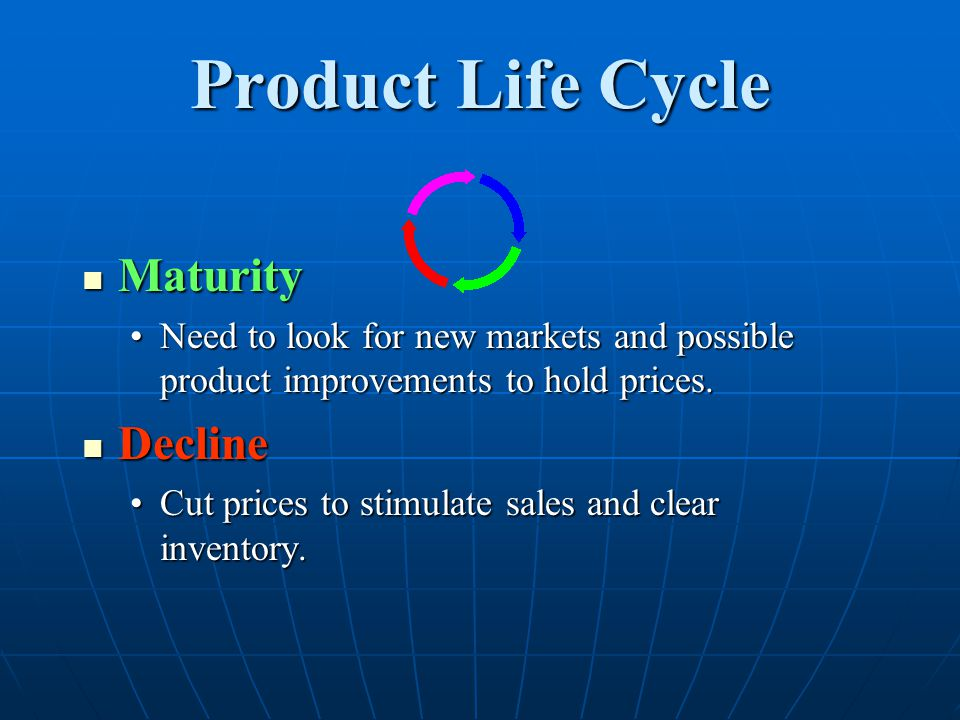 Product Life Cycle Maturity Decline
