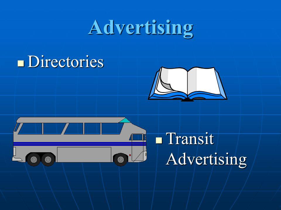 Advertising Directories Transit Advertising