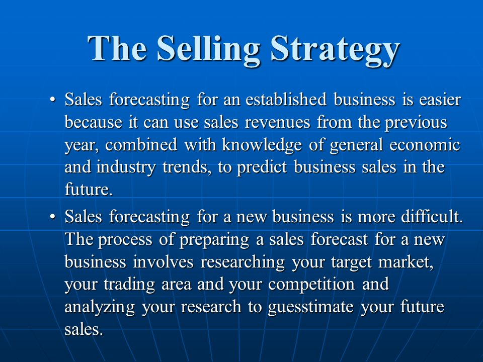 The Selling Strategy