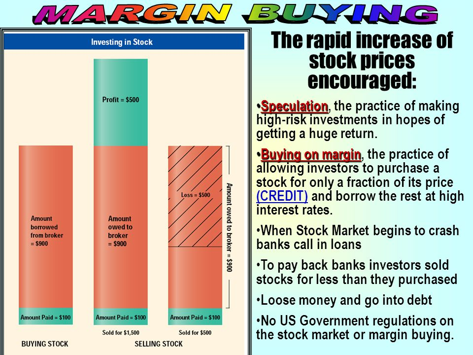 The rapid increase of stock prices encouraged: