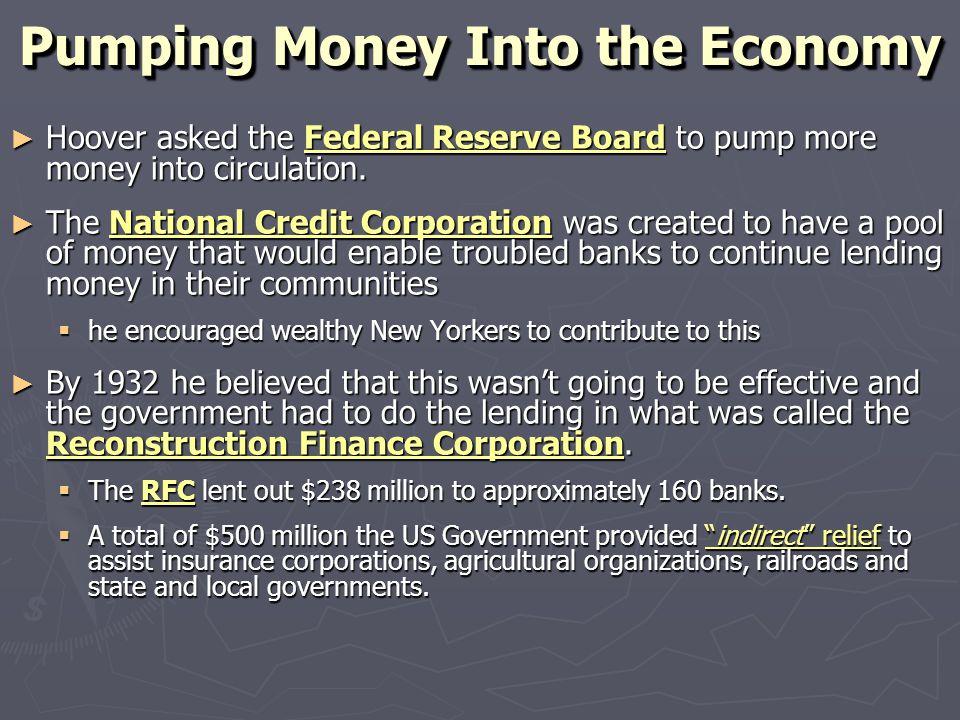 Pumping Money Into the Economy