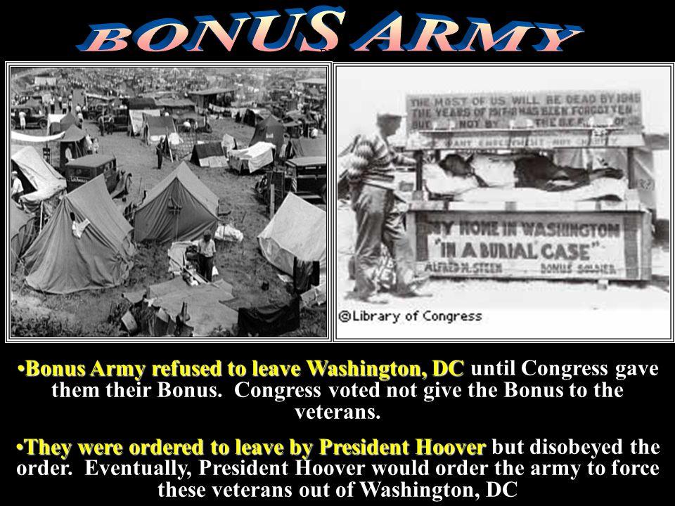 BONUS ARMY DEBTS.