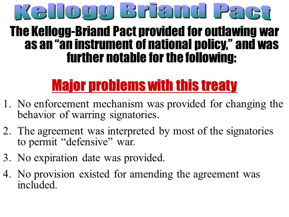 Major problems with this treaty