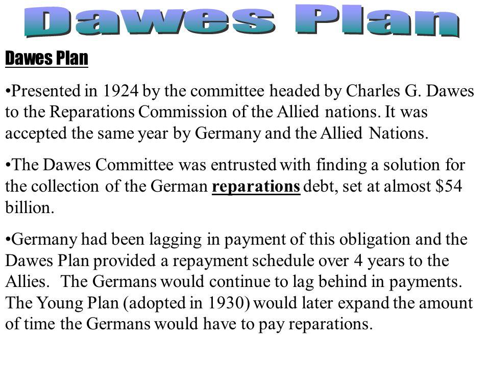 Dawes Plan Dawes Plan.