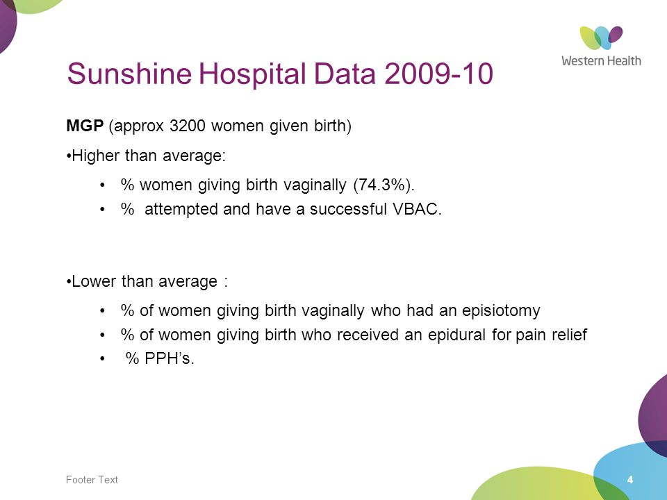 Sunshine Hospital Data 2009-10