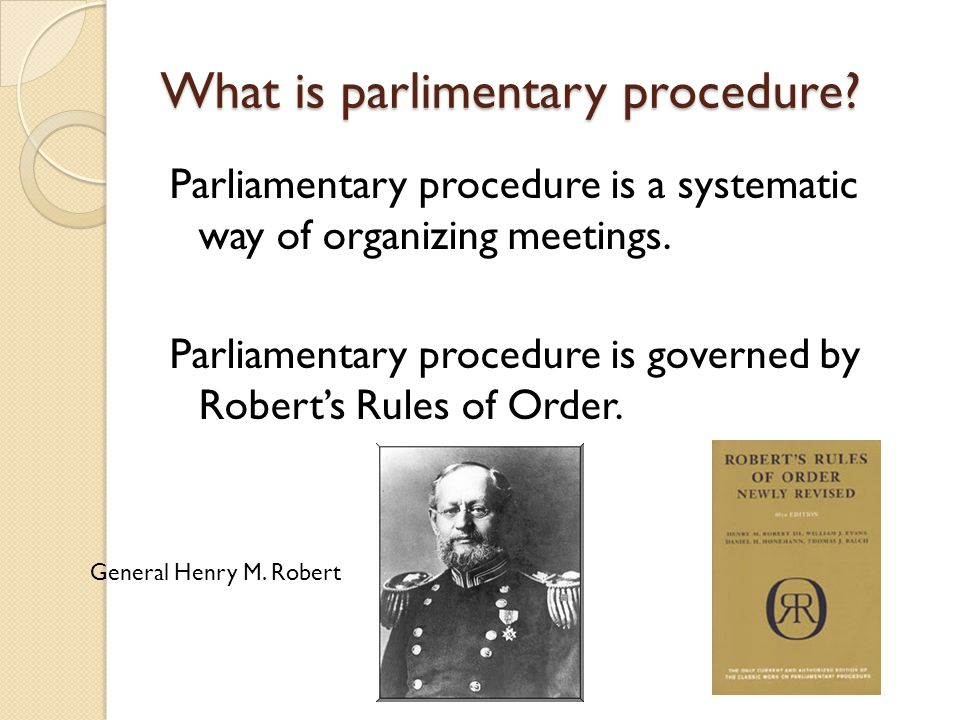 What is parlimentary procedure