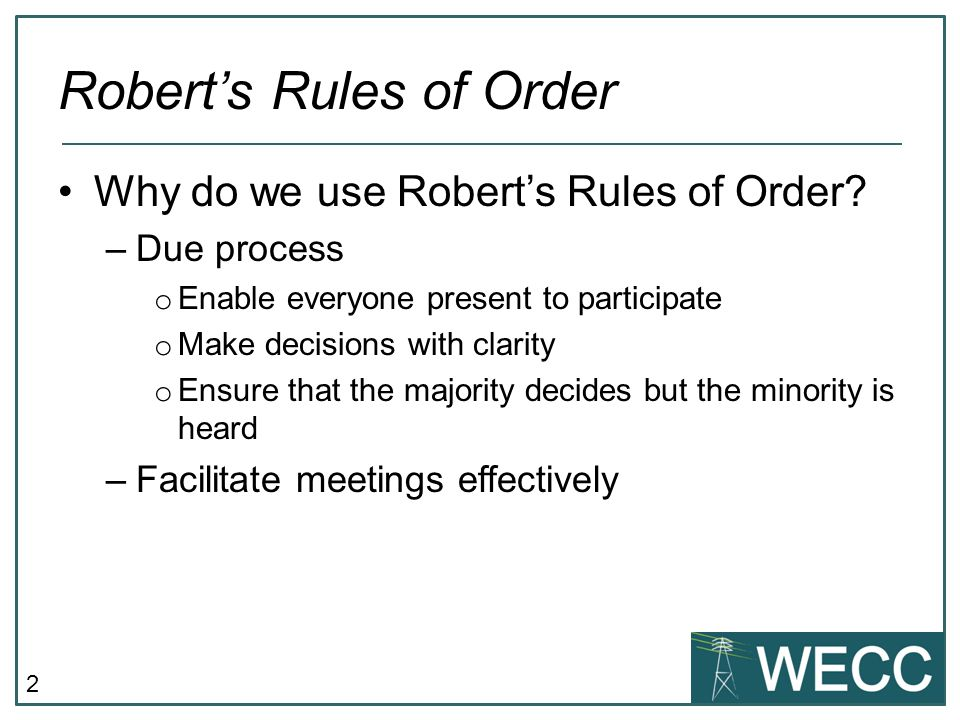 RobertS Rules Of Order  Ppt Video Online Download