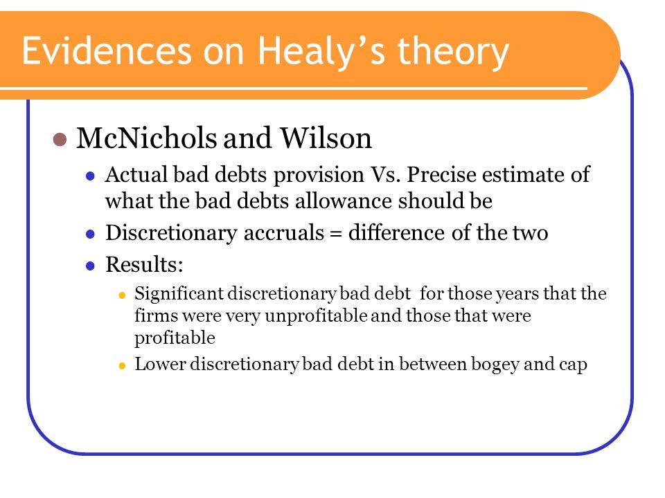 Evidences on Healy's theory