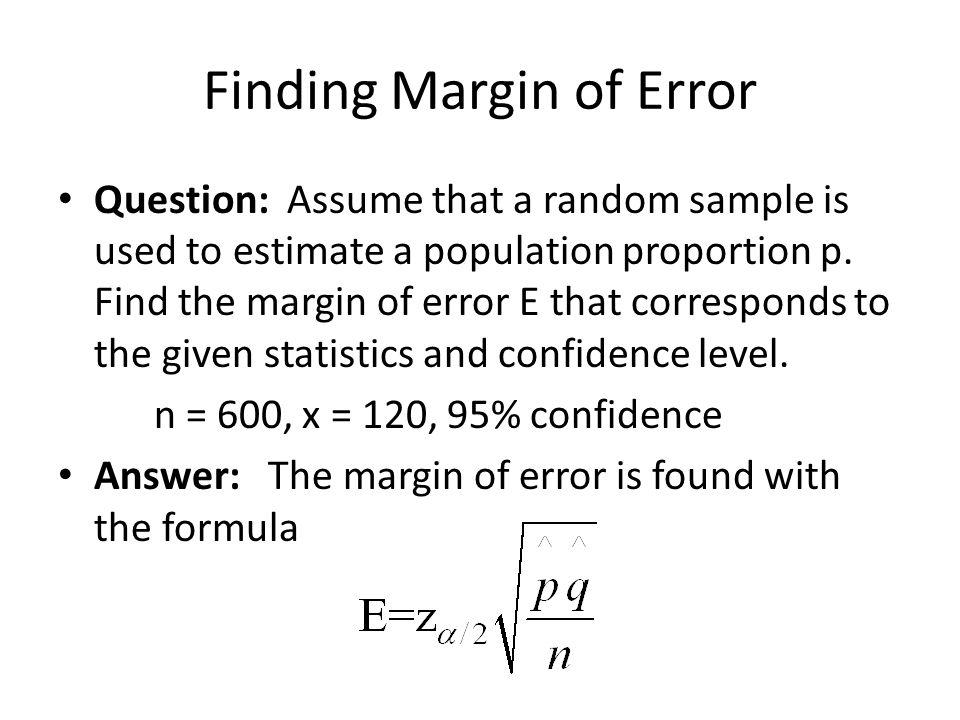 Finding Margin of Error