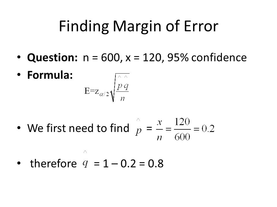 Finding Margin of Error