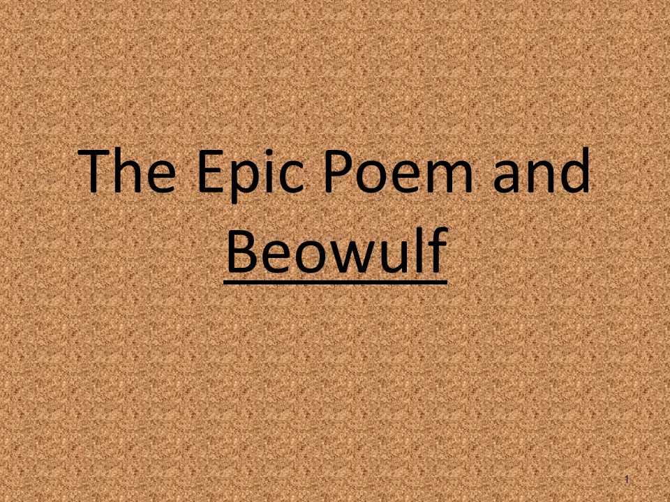an introduction to the epic poem beowulf and the many history examples of heroism