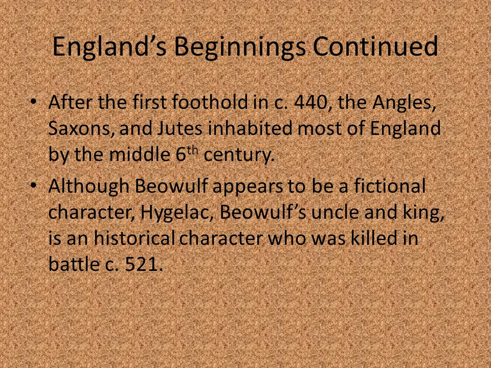 England's Beginnings Continued